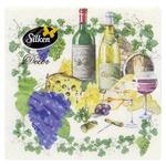 Салфетки Silken Wine Love бумажные столовые 3 слоя 18шт