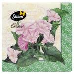 Салфетки Silken Вьюнок бумажные столовые 33х33см 3 слоя 18шт