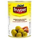 Оливки Fruyper зеленые с анчоусом 300мл