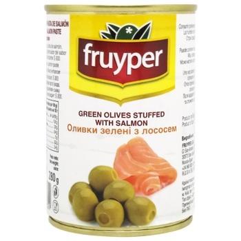 Оливки Fruyper зелені з лососем 300мл