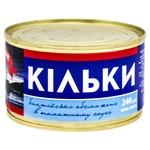 Килька Морские балтийская обжаренная в томатном соусе 230г