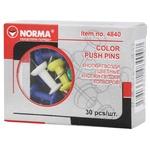 Кнопки Norma цветные 30шт