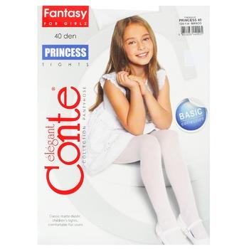 Колготы детские Conte Elegant Princess Bianco размер 128-134