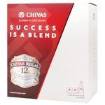 Chivas Regal 12 Yrs Whisky 40% 0,7l + 2 glass