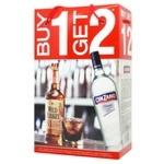 Wild Turkey Whiskey 40.5% 0.7l + Cinzano Vermouth 15% 0.75l in box