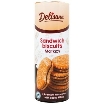 Печенье-сэндвич Delisana с начинкой какао-крем 300г