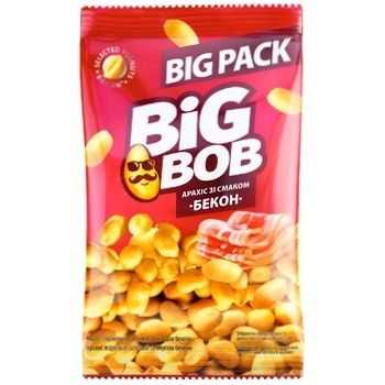 Big Bob Bacon Flavored Roasted Peanuts 120g - buy, prices for CityMarket - photo 1