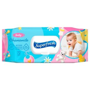 Superfresh Wet Wipes for Children and Mothers 72pcs
