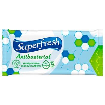 Салфетки влажные Superfresh антибактериальные 15шт