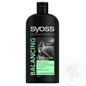 Шампунь Syoss Balancing для всех типов волос 500мл - купить, цены на Novus - фото 1