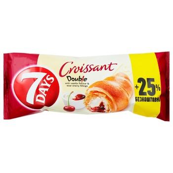 7 Days cherry-vanilla croissant 110g - buy, prices for EKO Market - photo 1