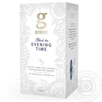 Чай черный Grace! Ивнинг Тайм с ароматом бергамота в пакетиках 25штх2г