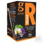 G'tea! Relax herbal tea in teabags 20pcs*1,5g - buy, prices for MegaMarket - image 1