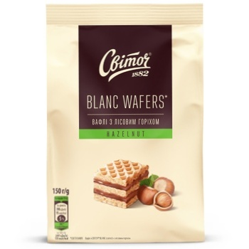Вафли SVOTICH® Blanc с лесным орехом 150г