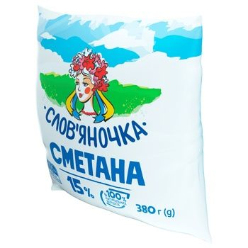 Slovianochka Sour Cream 15% 380g - buy, prices for CityMarket - photo 2