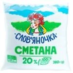 Сметана Славяночка 20% 380г