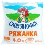 Slovianochka Ryazhanka 4% 425g