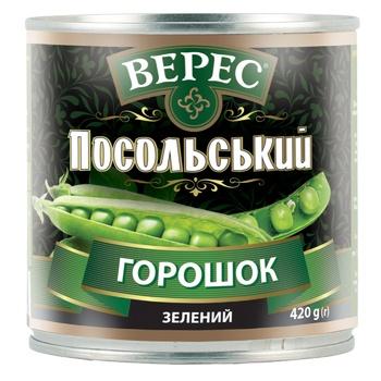 Горошек зеленый Верес Посольский 420г - купить, цены на Восторг - фото 1