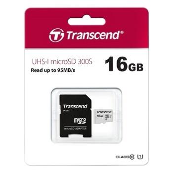 Карта пам'яті Transcend microSDHC 300S 16GB - купити, ціни на Ашан - фото 2