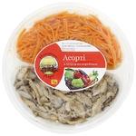 Салат Ноосфера-Агро Ассорти №5 морковь, грибы вешенки по-корейски 300г