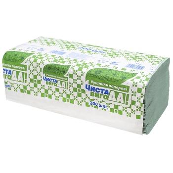 Бумажные полотенца Чистая ВыгоДА! зеленые 200шт