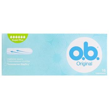Тампоны o.b. Original Super plus 16 шт - купить, цены на Novus - фото 1