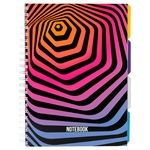 Optima Universal Notebook A4 Plastic Cover Spiral