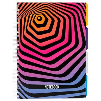 Блокнот Optima Universal A4 пластиковая обложка спираль