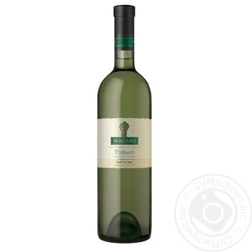Вино Marani Тбилисури белое полусухое 12% 0,75л