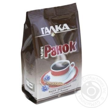 Напиток кофейный Галка Галич-Ранок с экстрактом из корня цикория растворимый порошкообразный 100г - купить, цены на Novus - фото 1