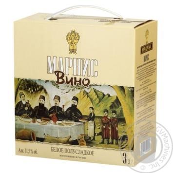 Вино Marani Marnis белое полусладкое 11,5% 3л