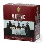 Вино Marani Marnis красное полусладкое 11,5% 3л