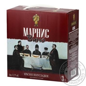 Вино Marani Marnis червоне напівсолодке 11,5% 3л