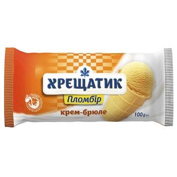 Мороженое Хрещатик пломбир крем-брюле 100г - купить, цены на Фуршет - фото 1