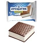 Мороженое Крещатик пломбир на печенье с какао 75г