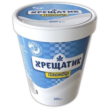 Мороженое Крещатик пломбир 15% 500г картонный стакан - купить, цены на МегаМаркет - фото 1