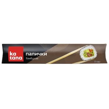 Палочки бамбуковые Katana 5 пар - купить, цены на МегаМаркет - фото 1