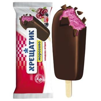 Мороженое Хрещатик плодово-ягодное в кондитерской глазури 80г - купить, цены на Фуршет - фото 2