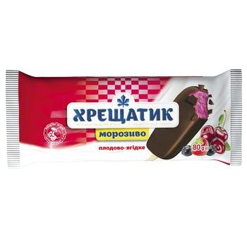 Мороженое Хрещатик плодово-ягодное в кондитерской глазури 80г - купить, цены на Фуршет - фото 1
