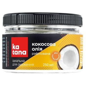 Кокосовое масло 100% Katana рафинированное фасованное дезодорированное 250мл - купить, цены на Novus - фото 1