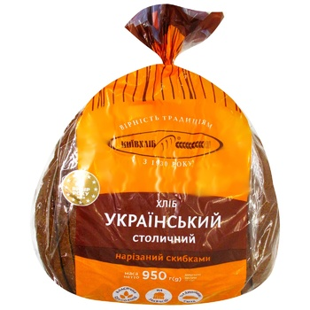 Kyivkhlib Ukrainian Stolychnyi Sliced Bread 950g - buy, prices for CityMarket - photo 3