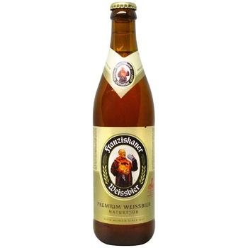 Пиво Пиво Franziskaner Hefe Weissbier светлое нефильтрованное 5,1% 0,5л