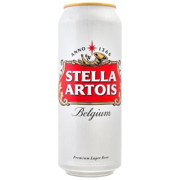 Пиво Stella Artois светлое ж/б 5% 0,5л - купить, цены на Пчёлка - фото 1