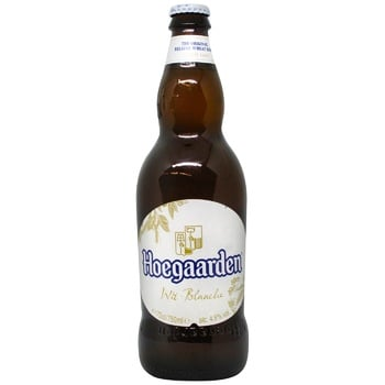 Пиво Hoegaarden Wit-Blanche светлое 4,9% 0,75л