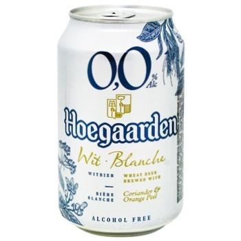 Пиво Hoegaardeh светлое безалкогольное 0,33л ж/б