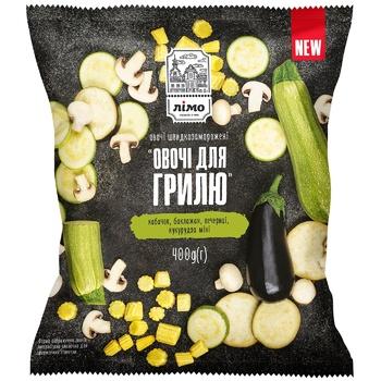 Овощная смесь Лимо Овощи для гриля быстрозамороженная 400г