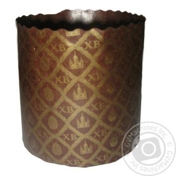 Форма Ecopack ХВ-сетка для выпечки пасхи бумажная 9*9см - купить, цены на Ашан - фото 1