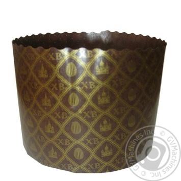 Форма Ecopack ХВ-сітка для випічки паски паперова 13,4*9,5см