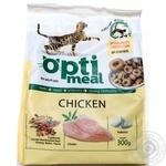 Корм сухий Optimeal для дорослих котів з куркою 300г