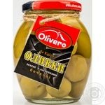 Olivero Barrel Green Whole Olives 350g